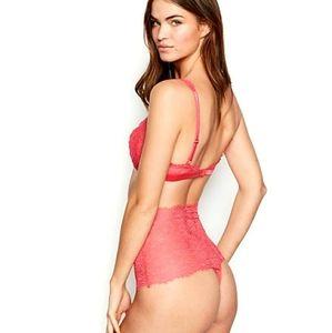 Victoria's Secret High Waist Lace Thong NWT